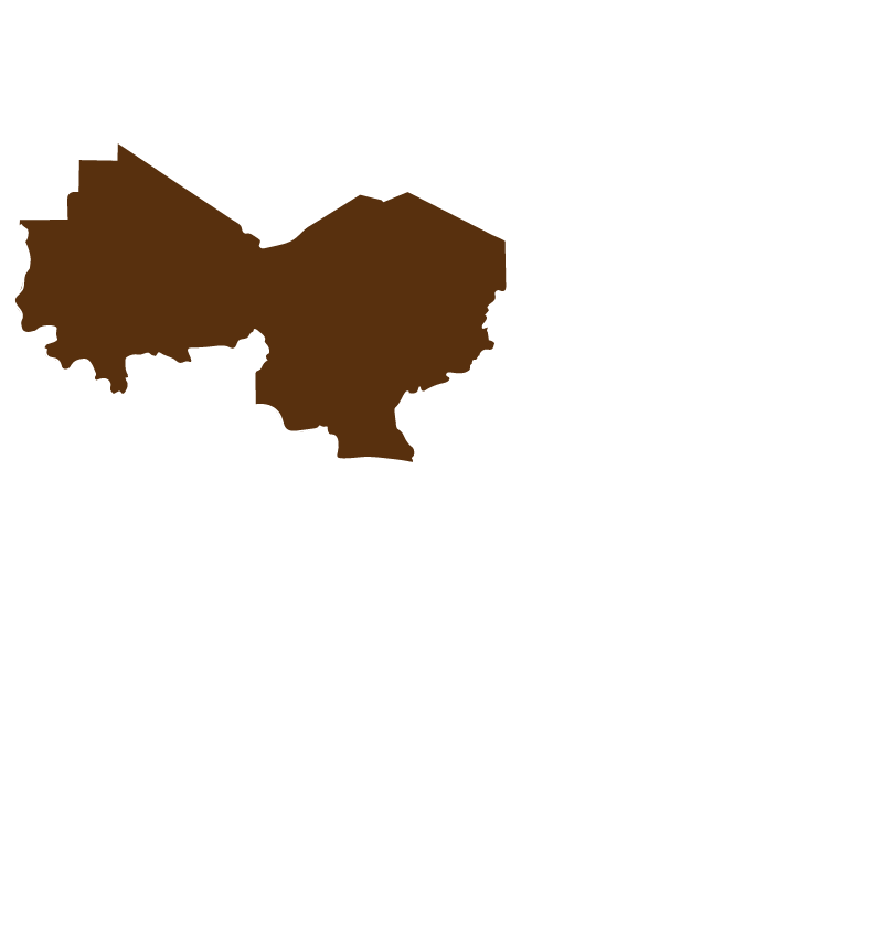 Map of the Sahel in Africa